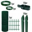 KIT per recinzione a rotoli rete elettrosaldata plastificata