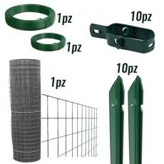 KIT per recinzione a rotoli rete elettrosaldata zincata