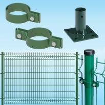 KIT per recinzione a pannelli plastificati modulari con sistema a tassellare